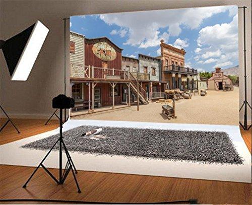 YongFoto 3x2m Vinyl Foto Hintergrund Weites Westland Cowboy Haus Western Fotografie Hintergrund für Fotoshooting Portraitfotos Party Kinder Hochzeit Fotostudio Requisiten