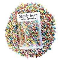 simply topps Rainbow Mini Glimmer Stars Sugar Sprinkles 25g Cake & Cupcake Decorations