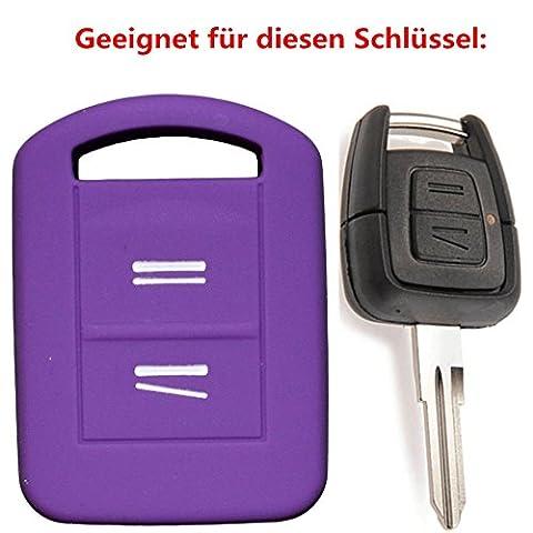 tuqiang® pour Vauxhall Corsa 1pc 2boutons Clés de Voiture Clé de protection en silicone violet