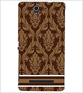 PrintDhaba Pattern D-2298 Back Case Cover for SONY XPERIA C3 (Multi-Coloured)