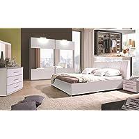 Schlafzimmer Komplett   Set A Ziros, 5 Teilig, Farbe: Weiß Hochglanz