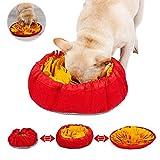 WELLXUNK Dog Snuffle Mat,Tappeto olfattivo Cane,Training Tappetino per Cani Lavabile,per Esercizio Mentale Allenamento Relax e Giocattolo Domestici (Yellow)