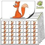 480 x Aufkleber - Fuchs (38 x 21 mm). Hochwertige selbstklebende Etiketten mit Tiermotiv von Zooify.