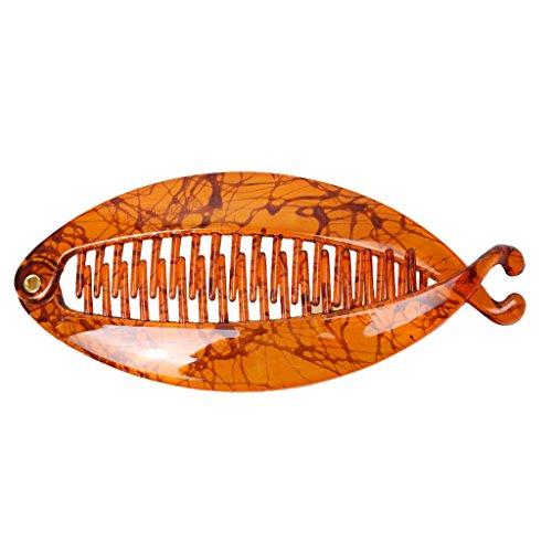 Kostüm Klaue Dunkle - milageto Mode Harz Haar Klaue Schwanz Fisch Clip Kamm Haarspange Griffe Clamp Dame Zubehör - Dunkle Kaffee Düse