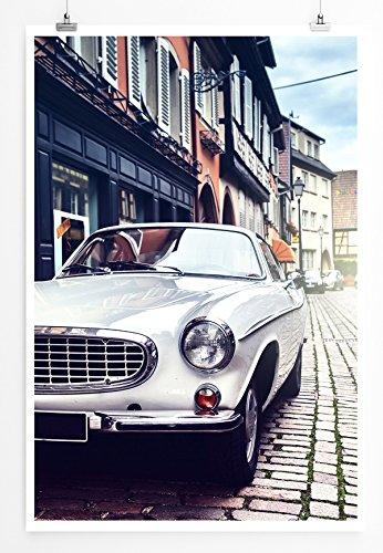 Eau Zone Bilder - Art Fotos - Oldtimer auf Kopfsteinpflaster- Leinwand Kunstdrucke Wandbilder aus Deutschland