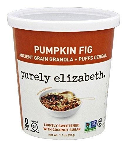 Purely Elizabeth - glutine grano antico libero Granola e soffi zucca fico - 1,1 oz.