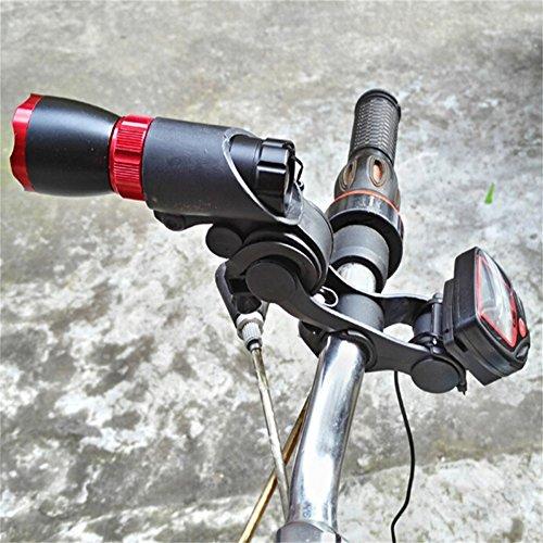 QHJ Fahrrad Scheinwerfer Tachometer Halterung Lenker Installieren Sie den Extender Fahrrad Zubehör (Schwarz)