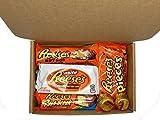 PURPLEGIANTS© Amerikanischer Reeses Schokolade Geschenkkorb 6 x Schokoriegel - Erdnussbutter Schokolade