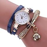 XBY.mi 1PCS Dunkelblaue Mode Damen dünne Gürtelschlaufe Armband Uhr