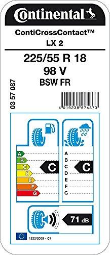 CONTINENTAL ContiCrossContact LX 2   - 225/55/18 098V - C/C/71dB - Pneumatico Per tutte le stagioni (SUV e Fuoristrada)