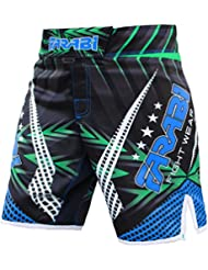 Farabi MMA Boxing Kickboxing Muay Thai Mix Martial Arts Cage Fighting Grappling Training Gym wear Clothing Shorts Trunks (Medium)