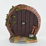 Porta di casa Hobbit in miniatura, decorazione da giardino, per albero, altezza 7 cm