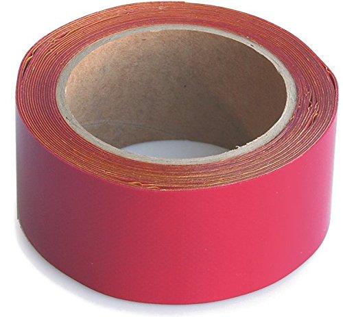 WUPSI PVC Reparatur Klebeband Für Alle Planen Und Folien, Rot, 5 Cm X 5 M