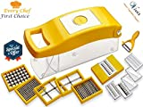 #5: Vivir® High Quality 12 in 1 Fruits And Vegetable Cutter (Yellow)