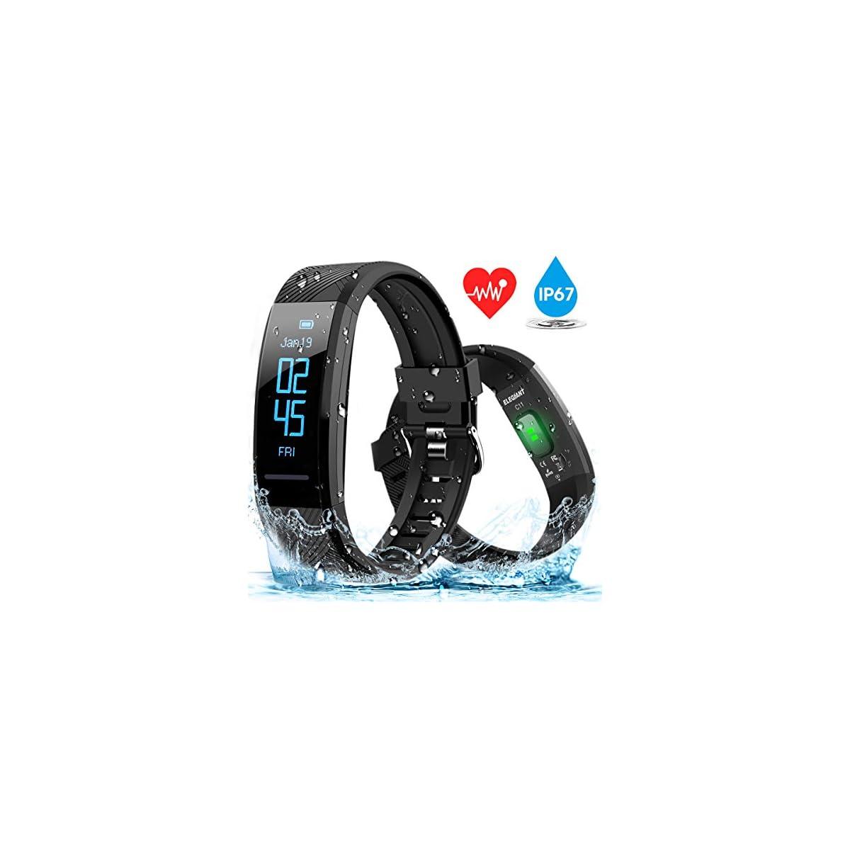 51NGgGwgqQL. SS1200  - ELEGIANT Pulsera de Actividad Inteligente Reloj Deportivo IP67 para Hombre Mujer con GPS Monitor de Sueño Podómetro Contador Notificación Whatsapps Facebook Llamadas iPhone Huawei Xiaomi Android ...