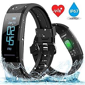 ELEGIANT Pulsera de Actividad Inteligente Reloj Deportivo IP67 para Hombre Mujer con GPS Monitor de Sueño Podómetro… 8