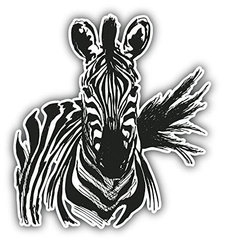 Zebra Sketch Animal Art Decor Vinyl Sticker Aufkleber 12 x 12 cm (Zebra-auto Aufkleber)