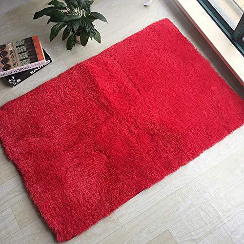Xqy moderna camera da letto minimalista con lussuoso tappeto sul letto, morbido tatami, tappetino da balcone con tavolino,a,80 * 120cm