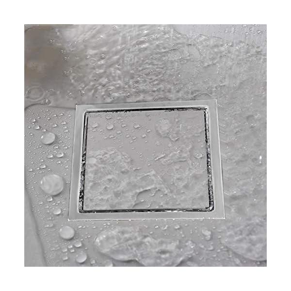 Garosa Drenaje de Piso de Acero Inoxidable Forma Cuadrada Baño Anti-Olor Plato de Ducha Inserto Rejilla de Desagüe de…