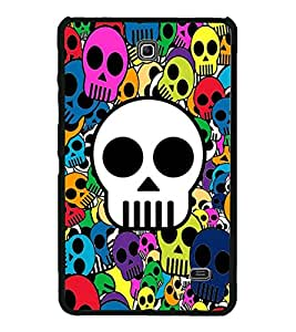 Multicolour Skulls Wallpaper 2D Hard Polycarbonate Designer Back Case Cover for Samsung Galaxy Tab 4 :: Samsung Galaxy Tab 4 T231