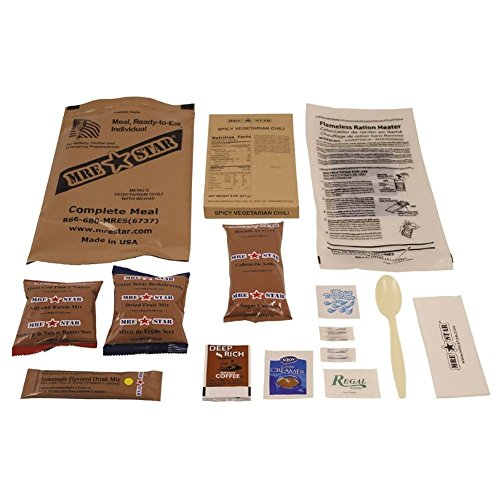 "Original US Army Food MRE Ready-to-Eat BW Notration Menü: 6 ""Vegetarian Chili"""
