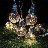 LY-JFSZ Lichterketten,Outdoor Solar Licht String 20 LED Solar Ananas Garten Fensterbank Weihnachten Gefüttert Rasen Dekoration