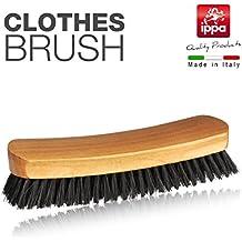 Cepillo para ropa, color madera natural y setola blanqueada rinforzata. Made in Italy.