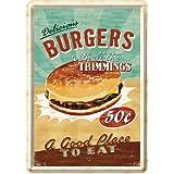 Nostalgic-Art 10140 USA - Burgers, Blechpostkarte 10x14 cm