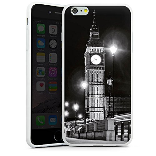 Apple iPhone X Silikon Hülle Case Schutzhülle Big Ben London England Silikon Case weiß