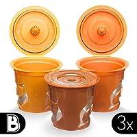 Brewooze 3X Smart Reusable K-Cups for Keurig & Other Single Cup Brewers #1 NEW RELEASE | K75, K45, B60, B70, K40, B40, K60, B145, B140, K150, K70, B30, K145, K155, B44, B200, B3000