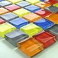 Glasmosaik Fliesen 23x23x8mm Bunt Mix von Mosafil auf TapetenShop