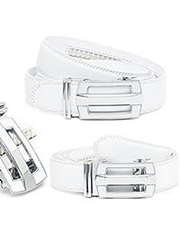 Kandharis Gürtel Automatik-Gürtel Jeansgürtel Herrengürtel Automatikschließe Weiß 146