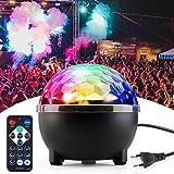 Discolicht, Korostro Discokugel Musikgesteuert Disco Lichteffekte RGB Partylicht LED Party Lampe 8 Farbe Discolampe Deko mit Fernbedienung für Kinder Partei Halloween Weihnachten Party Geburtstag
