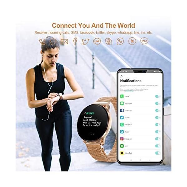 GOKOO Smartwatch Fashion para Hombre Mujer Impermeable Reloj Inteligente Monitores de Actividad Fitness Tracker con… 4
