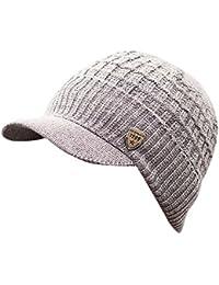 Rameng- Chapeau Casquette Homme Knit Cap Tricoté Chapeaux Bonnet Hiver  Beanie Hats b17011142c1