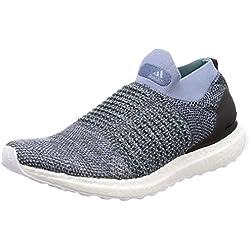 adidas Ultraboost Laceless, Zapatillas de Entrenamiento para Hombre, Azul (Rawgre Raw Grey/Carbon/Bluspi), 42 EU