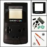 Ersatz Full Gehäuse Shell Schutzhülle für Nintendo Gameboy Color GBC–Transparent Schwarz