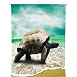 YISUMEI 80x120 cm Poster oder Leinwand-Bild gespannt Keilrahmen Malerei Canvas Gemälde Schildkröte Meer Strand