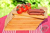 Picnic Set Picnic Kit, High-Quality Approximately 8 mm Thick 24 Solid Wood Chopping Board/Picnic Wooden Board New Classic Natural, Dimensions: Approximately 22 cm x 14 cm, Bruschetta Serving with Handles/Bavarian Bread Board Frame Solid Cutting Boards/Sandwich Board Time Picnic Set, of 6 Small