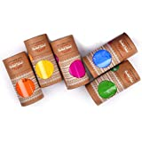 Antarkranti Naturals Tesu Flower, Rose Petals, Marigold, Sandalwood, , Maize Starch, Food colour, Orange, Yellow, Red, Pink, Blue and Green Hand-Made Herbal Gulal Pack of 5 (100gm x 5)