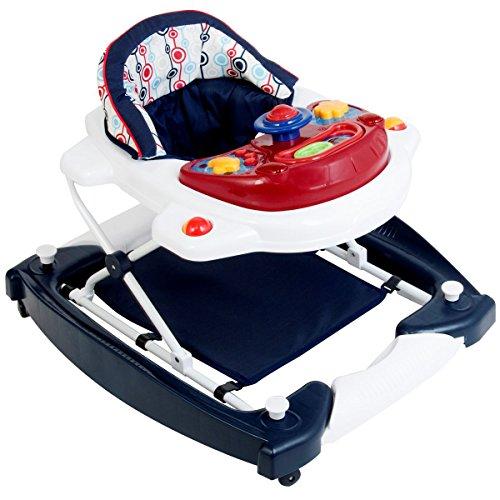 Babyschaukel mit Spielcenter (12 Melodien) und Einlage (RETRO) ()