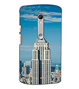 Fuson Designer Back Case Cover for Motorola Moto X Style :: Moto X Pure Edition (Tall Building Theme)
