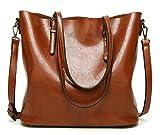 DCCN Damen Handtaschen Shopper Tasche PU Leder Einkaufstasche
