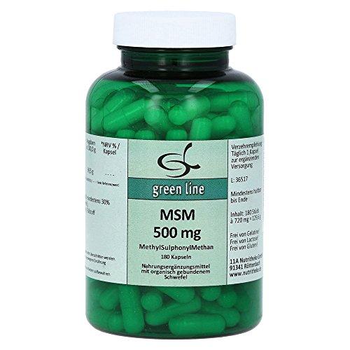MSM 500 mg Kapseln 180 St Kapseln