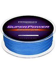 KastKing SuperPower Angelschnur 100% PE Dyneema 4-8 Fach Rund Geflochten Schnur - Super Kraft Bis 150LB - Abrasion Resistant - Zero Stretch & kleiner Durchmesser