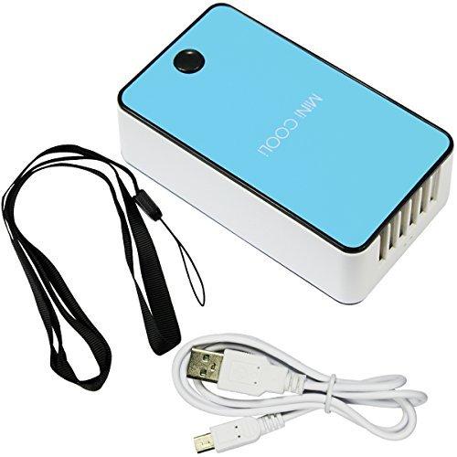 Mini Hand Handliche USB-Luefter Klimaanlage / Mini-Klimaanlage / Tragbare Luefter mit ABS-Kunststoff, Kuehlung Klimaanlage und Ventilator Gewoehnlichen Zwei Modi (Blue)