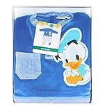 Disney Baby Strampler Velour samtweich mit Donald Duck Motiv (3-6 Monate)