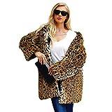 Cathy02Marshall Cappotto Vintage Per Donna Elegante Pelliccia Ecologica  Effetto Leopardo Giacche Di Pile Leopardato Con Bavero 9aeb3e65b2e
