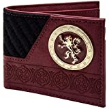 Game of Thrones Maison Lannister Lion d'or Noir Portefeuille