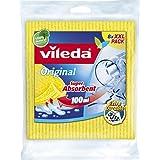 Vileda 142274 Lot de 8 chiffons en tissu éponge Capacité d'absorption jusqu'à 100ml